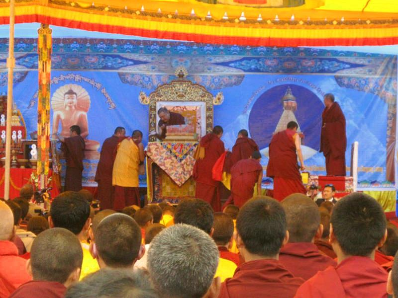Shamarpa gives initiation to Buddha Amitabha in Nepal, November 2010