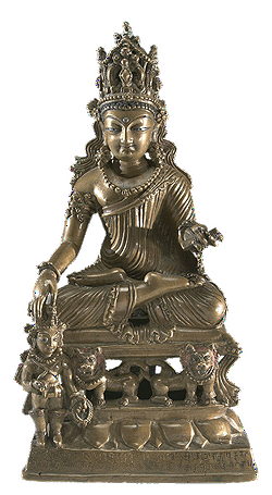 Akshobhya Buddha fra Kashmir 8. århundrede, fra Arthur and Margaret Glasgow Fund, VMFA, Virginia, USA