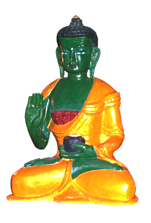 Buddha Amoghasiddhi; statue from Tilogaard. Photograph by Lama Tendar Olaf Hoeyer.