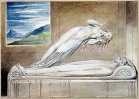 William Blake's 'sjælen svæver over kroppen.